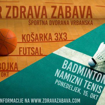 Turnirji Zdrave zabave – LIVE!